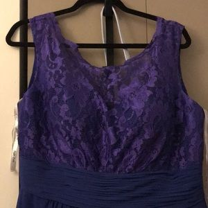 Long Blue/Dark Purple Bridesmaid Dress